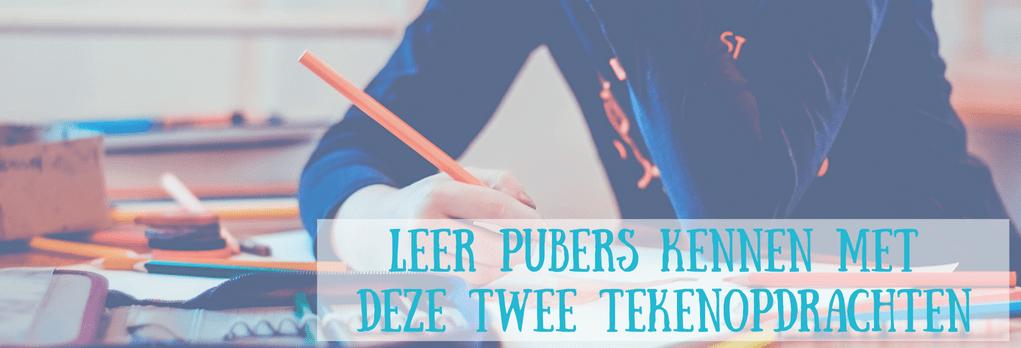 Leer pubers beter kennen met deze twee tekenopdrachten